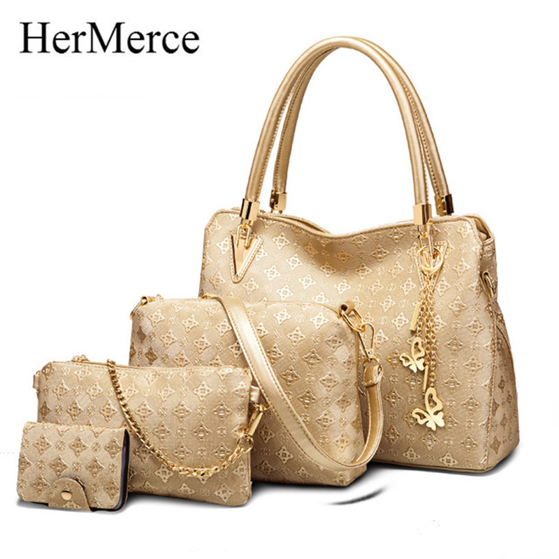 HerMerce Luxury Handbags Women Bags Designer Shoulder Bag Female Bag Women Leather Handbags bags set bolsa feminina sac luxe