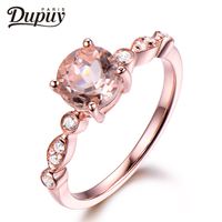 DUPUY VS 5mm Tiny Pinky Round Cut Morganite Ring Floral Halo Diamond Gemstone Ring Stackable Ring Vintage Ring F0001MO