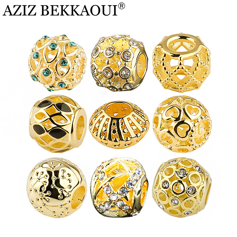 Fashion Women Jewelry Gold Color Charm Unique Design Crystal Beads ...