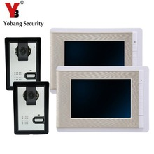 Sale YobangSecurity 7 Inch Wire Video Door Phone Indoor Monitor Night Vision Waterproof Outdoor Camera with RainCover Intercom System