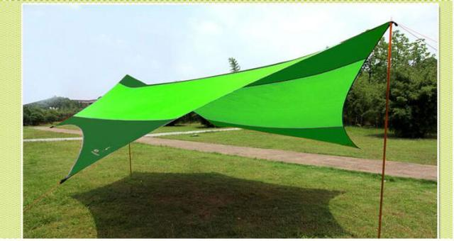 Beau Camping UV Protection Sun Shelter Folding Beach Sun Shade Multi Function Portable  Sun Canopy