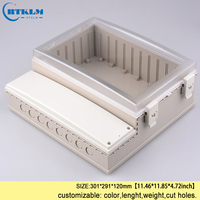 Precio Caja de plástico impermeable eléctrica IP68 carcasa transparente caja de Proyecto de plástico caja de instrumento