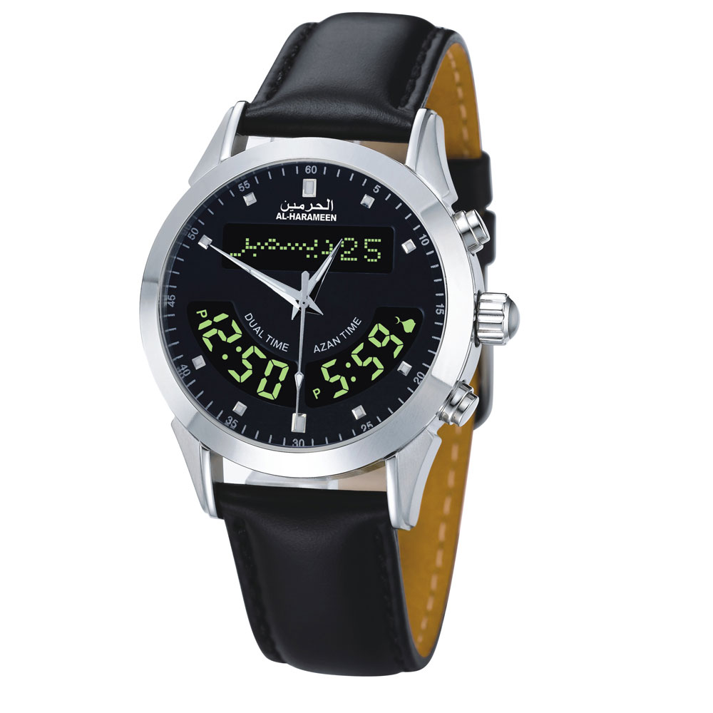 Smart Watches Muslim Wristwatch Islamic Azan Watch Stainless Steel Automatic Mosque Prayer Clock Watch