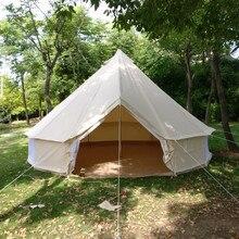 GRNTAMN всесезонный 4 м 5 м однослойный материал Оксфорд с полиуретановым покрытием водонепроницаемый семейный кемпинговый колокольчик палатка для туризма