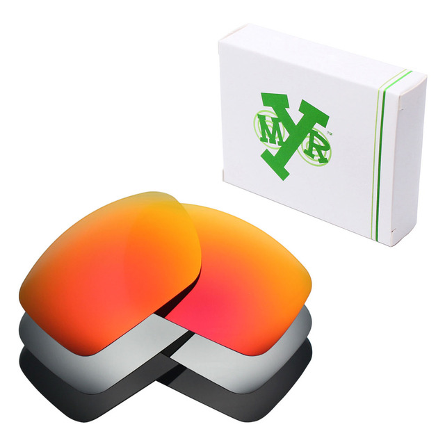 b3cffcfc2e 3 Pairs Mryok POLARIZED Replacement Lenses for Oakley Big Taco Sunglasses  Stealth Black   Fire Red   Silver Titanium