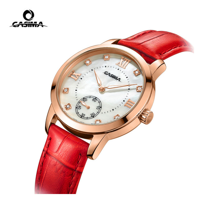 Luxury Brand CASIMA Women Watch montre femme Casual Leather Quartz Ladies Watches Waterproof Female Clock reloj mujer вытяжка gorenje whc923e16x
