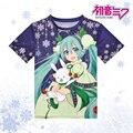 Anime Vocaloid Hatsune Miku Camiseta Linda Camiseta de Poliéster Verano Activo Otaku Hombres Mujeres Tops