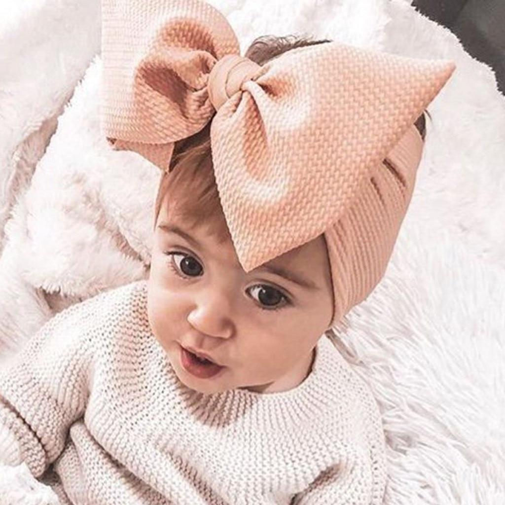 1Pc Baby Toddler Girl Bowknot Headband Stretch Hairband Headwear Baby Turban Cute Fashion Baby Headband Bebek Tokalar