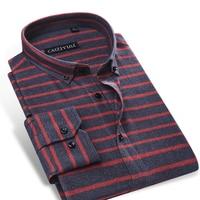 Men S Cotton Horizontal Stripe Dress Shirt No Pocket Comfy Soft Long Sleeve Slim Fit Button