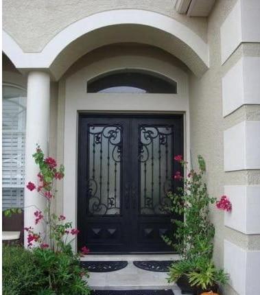 Quincaillerie de porte en fer forgé porte d'entrée porte d'entrée