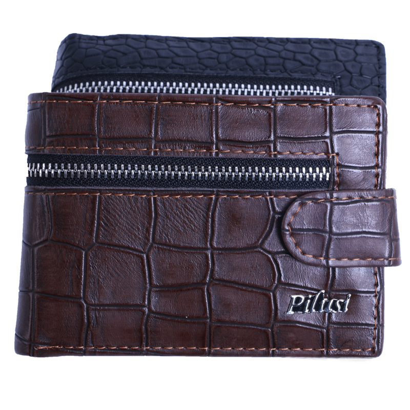 NEW Arrival Brand Leather men's short wallets crocodile fashion coin purse ultrathin student wallet free shipping