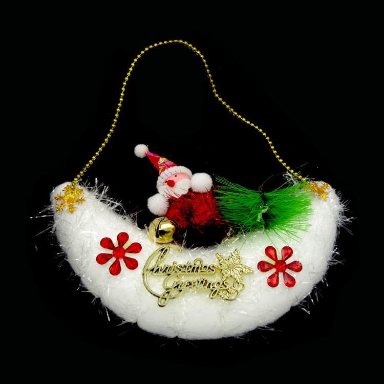 navidad colgando santa claus nave lunar lindo colgante de la decoracin del partido de navidad rbol de espuma adornos decoracio
