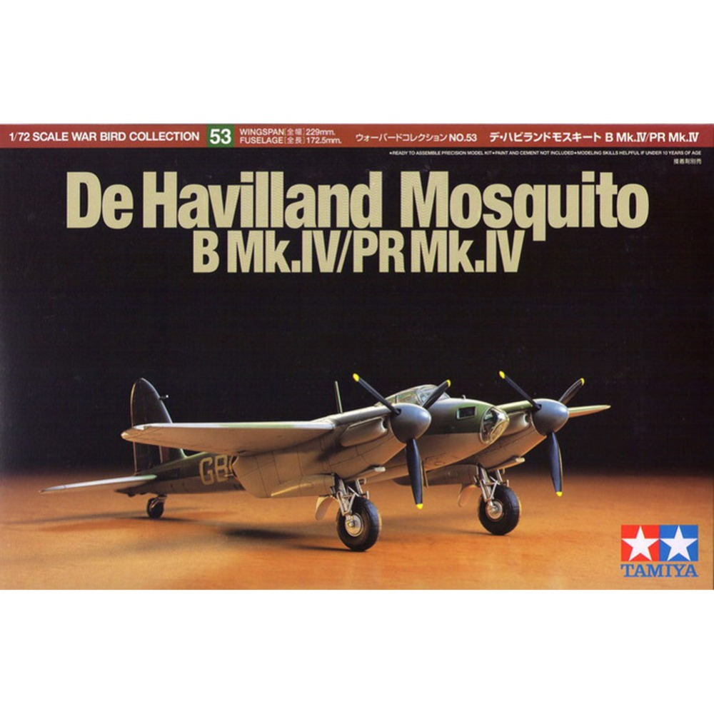 OHS Tamiya 60753 1/72 B Mk IV/PR Mk IV De Havilland Assembly Airforce Model Building Kits G