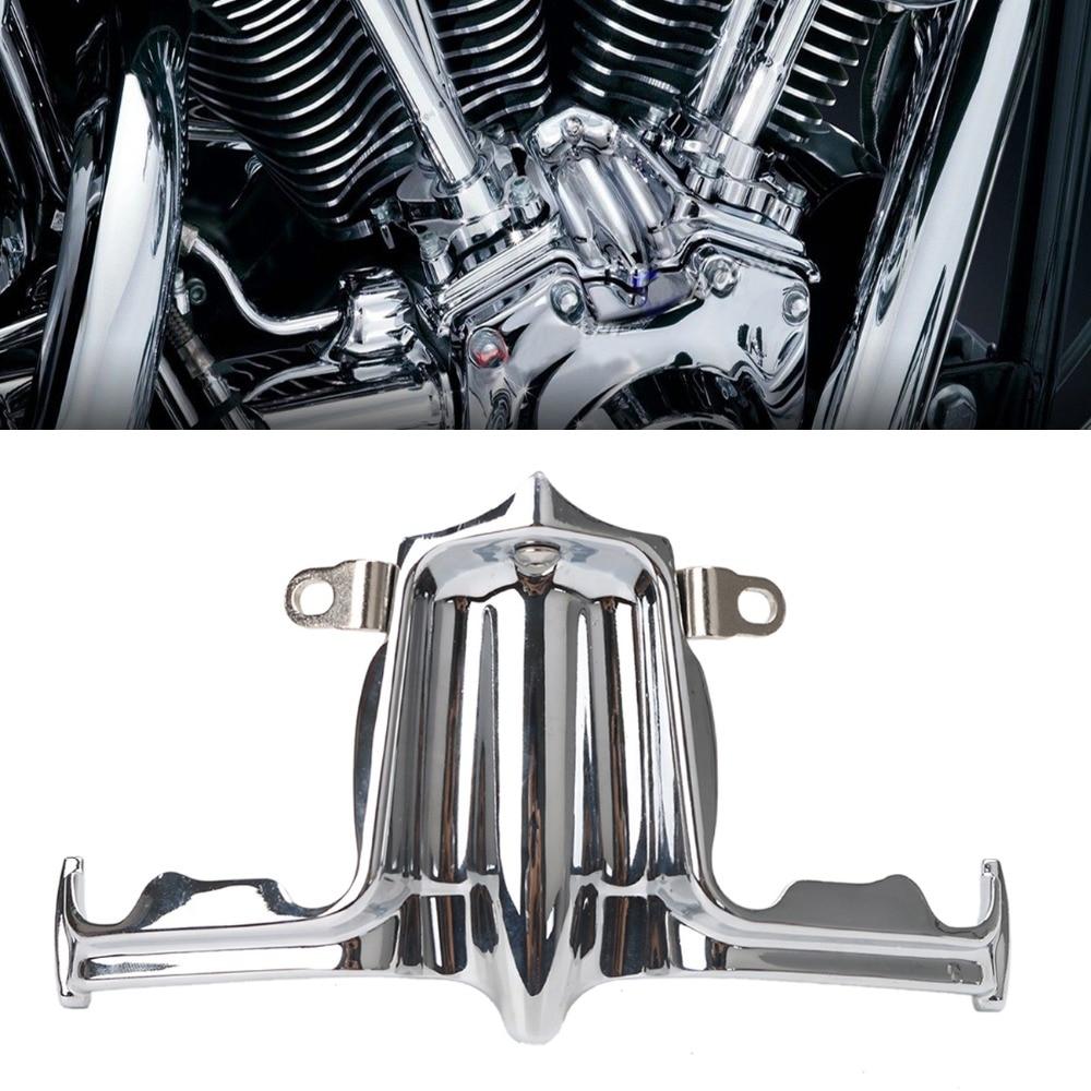 Хром Шлемпера блок стеклоподъемника акцент накладка для Harley Твин Кэм 2000-2016 Стрит Глайд дорога короля Дайна части мотоцикла #MBJ096