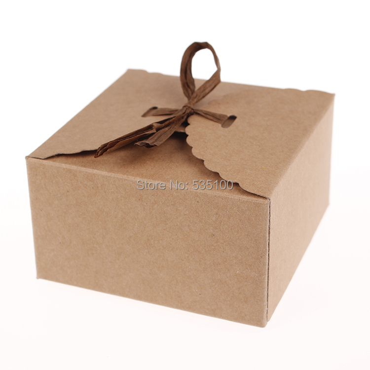 Retro Mini Kraft Paper Box Diy Wedding Gift Favor Bo Party Candy Single Cake Packaging Set Of 12 In Bags Wring Supplies From Home