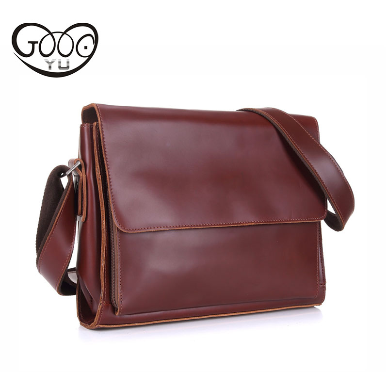 GOOG.YU Brand Business Mens Handbag Bags for gift Shoulder Bags Men 100% Genuine Leather Men Messenger Bag Casual Crossbody Ba