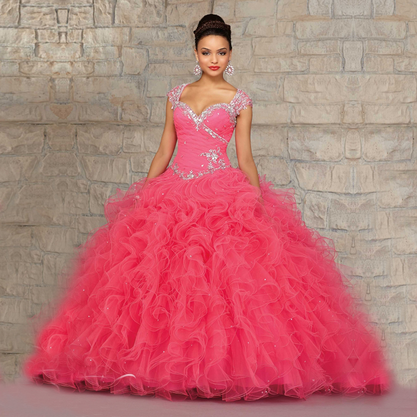 Online Get Cheap Hot Pink Crystal Quinceanera Dresses -Aliexpress ...