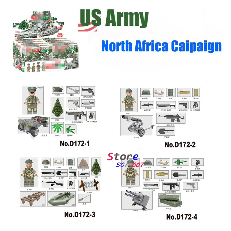 ww2 Black Forest Battle Army Us Army Jeep kayak cannon Military Weapons Model Building Blocks Brick  toys for children 8 in 1 military ship building blocks toys for boys
