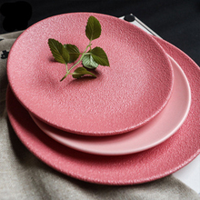 Macaron dinner plate Ceramic Dinner Plates Beef Plate Tableware Round Solid Color Dessert Dish Creative Snack