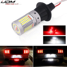 IJDM – ampoules Canbus T25 PY27W pour Ford Mustang 15-17, LED 3156, double couleur blanc/rouge, 12V