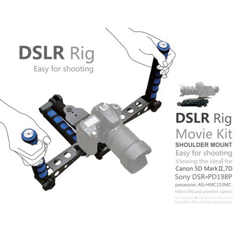 DSLR RIG DSLR Rig Movie Kit Shoulder Mount DSLR Stabilizer Shoulder Rig For Canon Nikon Panasonic