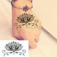Étanche Tatouage Temporaire Autocollants fleur de Lotus Totems faux Tatto  Flash Tatoo Tatouage Main Pied Arrière