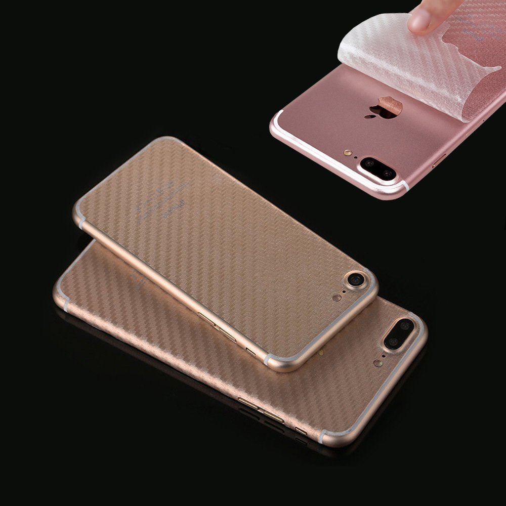 Ultrathin Transparent Carbon Fiber Back Sticker For iPhone 6 6s Plus 7 plus Screen Protector Film, Free Shipping&Tracking Number trophy