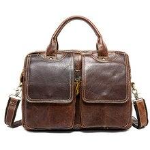 Мужской портфель Бизнес Офис/деловые сумки кожаные портфели ноутбука сумка Для мужчин, из натуральной кожи, для документов сумки для Для мужчин