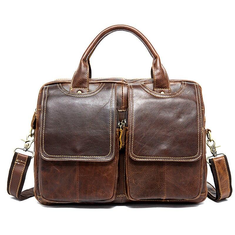 Homme porte-documents affaires bureau/travail sacs en cuir porte-documents pour ordinateur portable sac hommes en cuir véritable documents sacs pour hommes