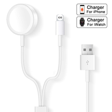 Magnetic Wireless Charger For Apple Watch Series 4 3 2 1 Fast Charging 2 in 1 Mobile Phone USB Charge Cable For iphone X 8 7 6 5 espanson wireless charger pad 2 in 1 for apple watch iwatch 2 3 7 5w fast charging for iphone x 8 8 plus mobile phone chargers