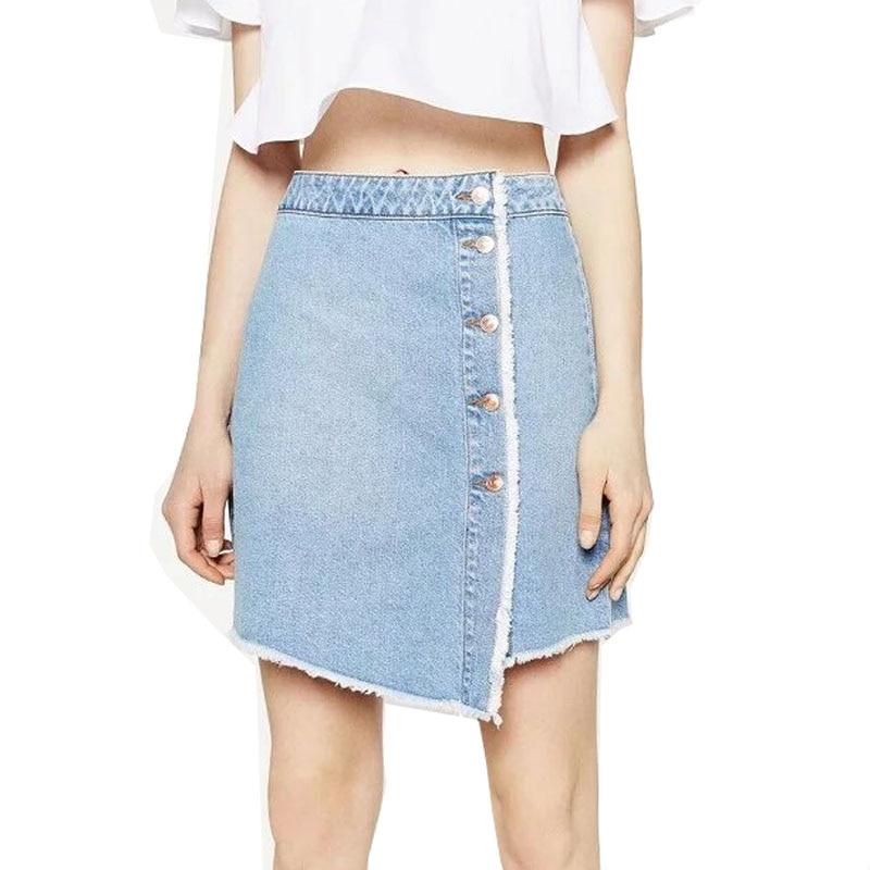 Women Vintage Jeans Style Skirt Fashion Ladies Mini Blue ...