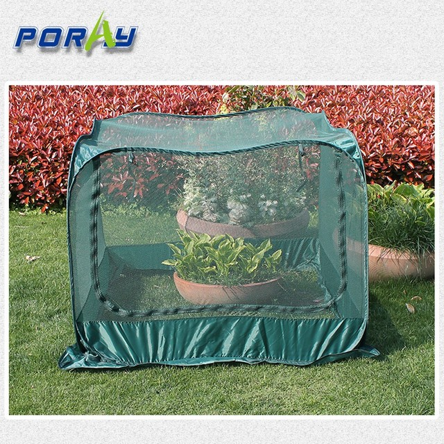 Dark green mesh Pop Up flower cover for garden greenhouse GardenQuilt Cover & Dark green mesh Pop Up flower cover for garden greenhouse ...