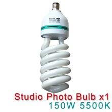 Estúdio de fotos 220 v 150 w lâmpada de poupança energia 5500 k e27 luz para fotografia iluminação foto vídeo