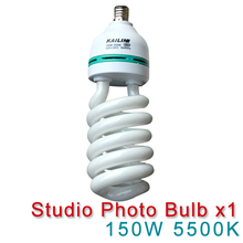NEW PHOTOGRAPHIC EQUIPMENT 5500K bulb for Energy Saving two lamp holder 150w