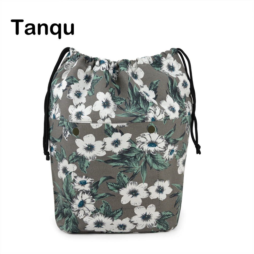 TANQU New Large Capacity Classic Mini Drawstring Colorful Inner Lining Insert for Big Mini Obag Canvas Inner Pocket for O Bag new colorful cartoon floral insert lining for o chic ochic canvas waterproof inner pocket for obag women handbag