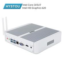 HYSTOU Intel Core i5 8250U i3 7100U i5 7200U I7 5550U Kaby אגם Fanless מיני מחשב Windows Intel HD גרפי 620 מיני מחשב