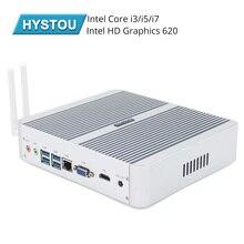 Hystou 인텔 코어 i5 8250u i3 7100u i5 7200u i7 5550u kaby lake 팬리스 미니 pc windows intel hd 그래픽 620 미니 컴퓨터