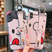 Charlie Lucy Wrist strap luxury design case for iphone 8 7 plus 6 6s xr xs max keychain ring cute girl wristband phone 10