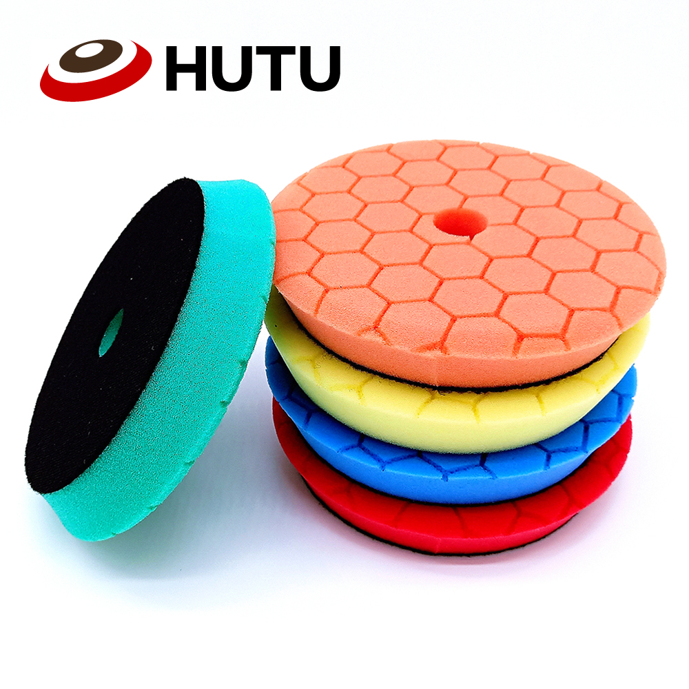 Sponge Polishing Waxing Buffing Pads Kit 30mm Thick  Europe Sponge Auto Polish Pad For RO/DA Polishier  Different Hardness Pad
