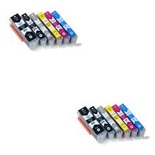12pcs Luocai for canon PGI670 CLI671 PGI 670 CLI 671 compatible ink cartridge for canon PIXMA MG5766 inkjet Printer 6 color empty ciss suit for pgi670 cli671 ciss suit for canon pixma mg5760 mg5765 mg5766 etc with arc chips