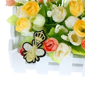 1PC Bestickt Patch Für Kleidung Für T-shirt Biene Honig Patches Stickerei Eisen Auf Patch Dekoration Zubehör