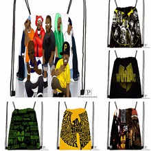 Custom Wu Tang Clan Drawstring Backpack Bag Cute Daypack Kids Satchel (Black Back) 31x40cm#180531-03-51
