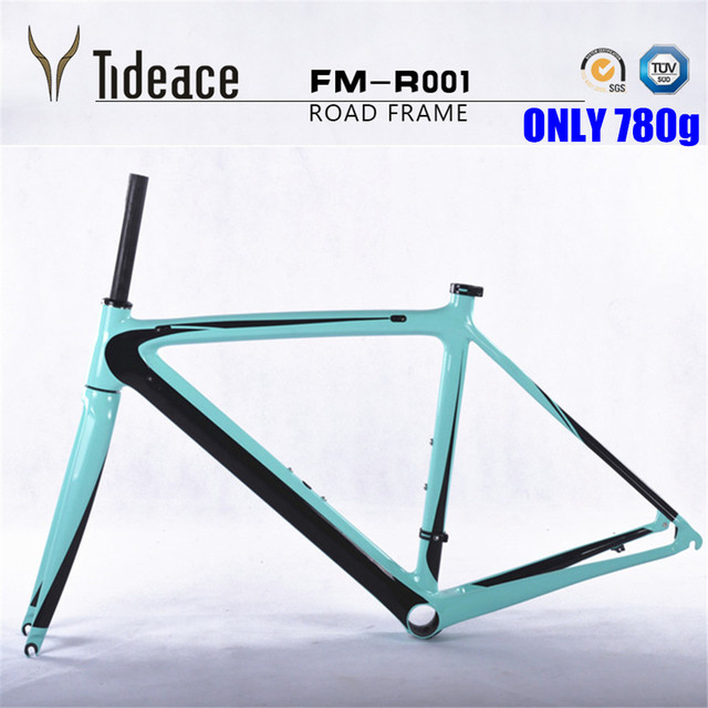 Cheap ONLY 780g light weight 2017 Di2 aero carbon road frame 50 53 55cm road carbon frame bicycle parts carbon bicycle frame