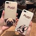 Nuevo patrón de perro de dibujos animados suave ultrafino casos cubierta para iphone 6 pareja 6 s 6 más 6 s plus para iphone7 7 plus 4.7 5.5 pulgadas para los niños