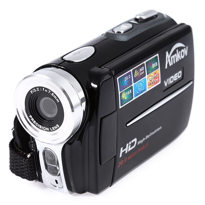 цена на Amkov Video Camera HD 720P 20MP Digital Camera Filmadora Portable Mini DV Video Camera AMK-DV164 Black