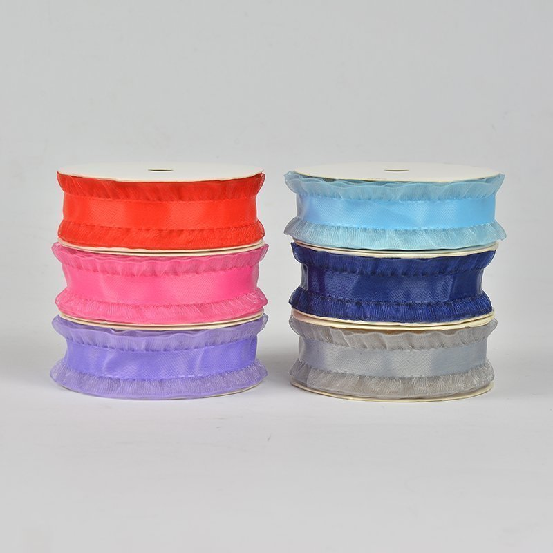 NEW 125mm 50 yards Multi colors option Polyester Satin and Organza Ribbon tape free shipping