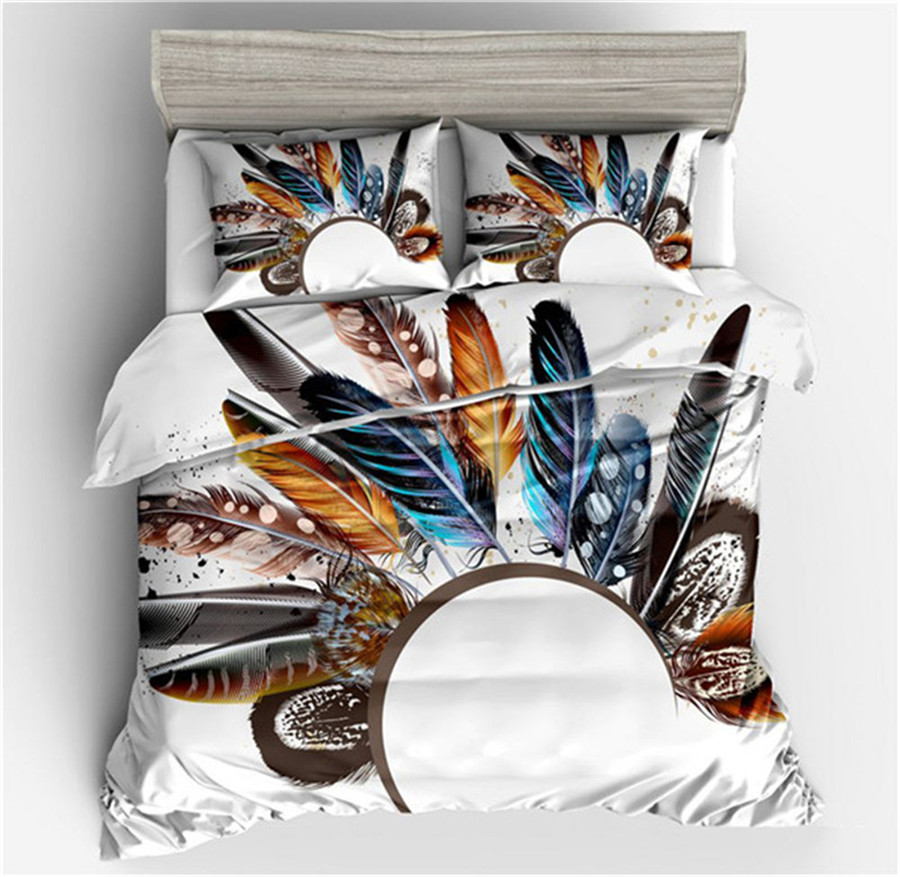 New Feather House Decor Duvet Cover Set pillow case Vaned Types Natal Contour Flight Feathers Animal Skin Element Print 3 Piece New Feather House Decor Duvet Cover Set pillow case Vaned Types Natal Contour Flight Feathers Animal Skin Element Print 3 Piece