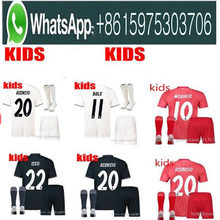 ec2c46942 2019 Kids Kit Real Madrid Football Jersey 201819 Home White Away Boy Soccer  Jerseys ISCO ASENSIO BALE KROOS Child 3rd red Soccer