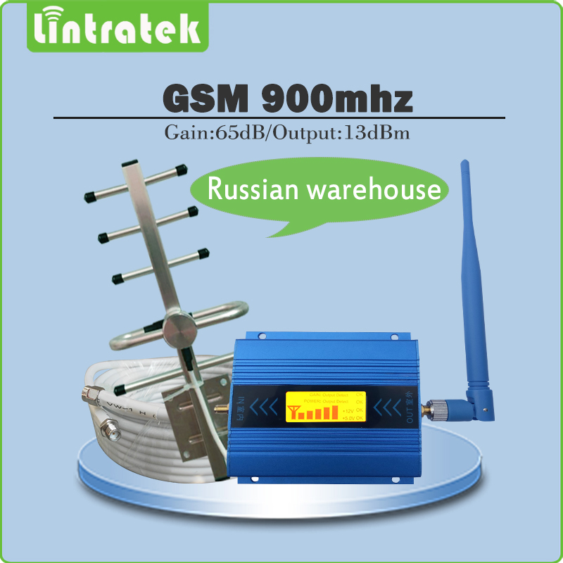 GSM 900mhz Signal Repeater Gain 65dB 2G GSM 900MHz Mobile Signal Booster Amplifier full set with