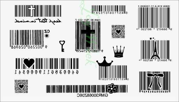 Tahan Air Stiker Tato Sementara Surf Kode Barcode Tato Dua Dimensi Tatto Stiker Flash Tato Tato Palsu